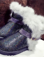Women's Shoes Glitter Chunky Heel Snow Boots / Round Toe Boots Outdoor / Casual Purple / Beige