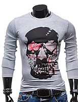 Men's Long Sleeve T-Shirt , Spandex Casual Pure