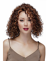 Europe and the United States wind Fashion Lady Middle Length  Mixed Color Curly Cosplay Full Wigs