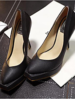 Women's Shoes Patent Leather Stiletto Heel Square Toe Heels Casual Black / White