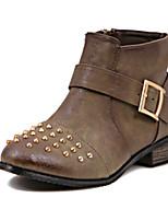 Women's Shoes Low Heel Comfort Boots Outdoor Black / Brown