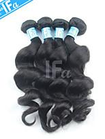 capelli onda allentata malesi tessitura 4pcs capelli umani / lot malese estensione vergine colore 1b