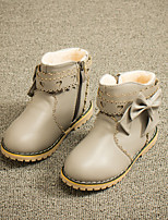 Girls' Shoes Dress / Casual Fashion Boots / Comfort / Combat Boots Leatherette Boots Black / Pink / Red / Gray