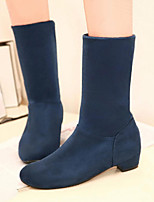 Women's Shoes Low Heel Round Toe All Match Boots Casual Black / Blue / Red