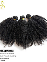 4Pcs Lot Indian Afro Kinky Curly Virgin Hair 100% Human Hair Weave Bundles 6A Indian Curly Hair Extensions Natural Black
