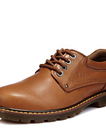 Men's Shoes Outdoor / Party & Evening / Casual Leather Oxfords Brown / Taupe