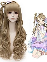 2015 new arrival love live Minami Kotori cosplay Wig wavy Anime long amber Wig