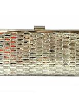 Women PVC Minaudiere Clutch / Evening Bag - Gold / Silver / Black