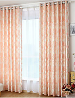LORICA® One Panel Pink Floral / Botanical Linen/Polyester Blend Panel