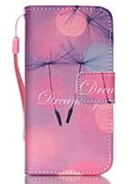 For iPhone 5 Case Wallet / with Stand / Flip Case Full Body Case Dandelion Hard PU Leather iPhone SE/5s/5