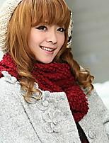 Women Cute Knitting Wool Double Scarve