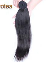 Cheveux humains droite cheveux vierge 1pc extensions péruviens non transformés cheveux raides péruvien tisse enchevêtrement libre