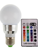 Controllo a distanza / Decorativo Luci LED da palcoscenico , E14 / E26/E27 3 W 1 LED ad alta intesità 180LM LM Colori primari AC 85-265 V