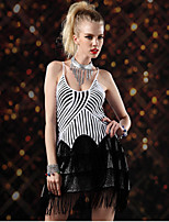 Latin Dance Dresses Women's Performance Spandex / Polyester Tassel(s) 1 Piece Black / Blue / Red