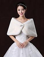 Wedding / Party/Evening Faux Fur Shawls Long Sleeve Wedding  Wraps