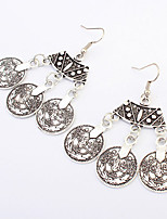 Women's Fashion Queen Coins Pendant Alloy Earrings