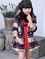 Veste & Manteau Fille de Hiver / Printemps / Automne Mélange de Coton Bleu / Rouge