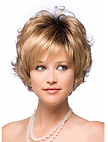 Europe And The United States Blonde Short Curly Wig