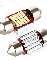YOBO 4W 320LM Festoon 31MM 4*4014MD LED White Light for Car Steering Light Bulb / Reading Lamp - (2 PCS /DC 12-24V)