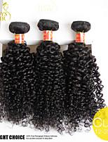 3pcs mucho pelo virginal sin procesar paquetes rizada rizada brasileña del pelo humano de la armadura onda rizada profunda brazillian