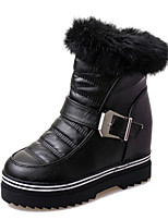 Women's Shoes Wedge Heel Wedges / Comfort / Combat Boots / Round Toe Boots Casual Black / Red / White