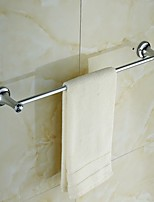 Elegant Silver Crystal Brass Towel Bar