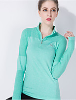 Yoga Tops Waterproof / Breathable / Quick Dry / Wicking / Thermal / Warm High Elasticity Sports WearYoga