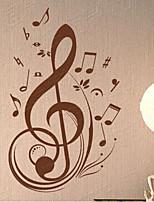 Musica / Fashion Adesivi murali Adesivi aereo da parete , PVC 56cm*90cm