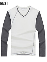 Leisure color long sleeved T-shirt male youth slim mens jacket cotton shirt personality