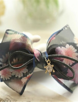 Bohemia dazzle colour black floral han edition bowknot hairpin