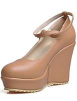 Women's Shoes Wedge Heel Comfort / Round Toe Heels Outdoor / Office & Career / Dress / Casual Black / White / Beige