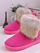 Women's Shoes Low Heel Round Toe Boots Casual Blue / Yellow / Pink / Gray