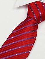 Red Purple diamond Men Arrow Type Jacquard Necktie Tie