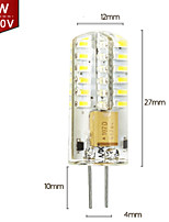 3W 3014 G4 Small Bulb Energy-Saving Highlight Energy-Saving Lamps Halogen Lamp Bead LED (AC220V)