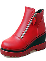 Women's Shoes Wedge Heel Wedges / Bootie / Round Toe Boots Casual Black / Red / Gray