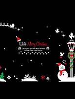 Christmas / Fashion / Cartoon / Holiday Wall Stickers Plane Wall Stickers Shopwindow stickers, PVC 100cm*72cm
