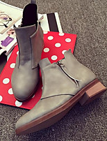 Women's Shoes Polyester Flat Heel Closed Toe Boots Outdoor / Casual Black / Gray