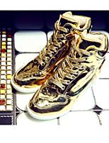 Scarpe Donna - Sneakers alla moda - Casual - Aperta - Piatto - Finta pelle - Argento / Dorato