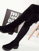 Zapatos de mujer - Tacón Robusto - Comfort - Botas - Vestido / Casual - Semicuero - Negro