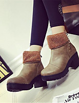 Women's Shoes Chunky Heel Round Toe Boots Casual Yellow / Gray / Khaki