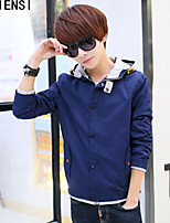 2015 spring and autumn new men's Jacket Mens a slim thin cotton leisure Korean tide