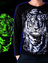 Men's Long Sleeve T-Shirt , Cotton Casual Print
