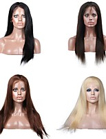 Premierwigs 8A 8''-28'' Natural Straight Brazilian Virgin Silk Base Top Full Lace Human Hair Wigs Lace Front Wigs