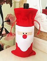 navidad botella de vino de la decoración de la ropa bolsa de botella de Papá Noel