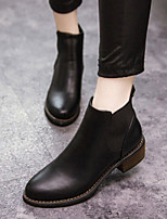Women's Shoes Vintage Fashion Pointed Toe Chunky Heel Bootie / Comfort Boots Dress / Casual Black / Beige