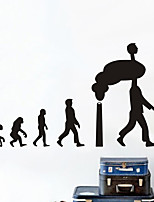People Wall Stickers Plane Wall Stickers , Future Human Evolution PVC Wall Stickers