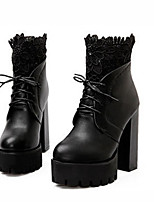 Women's Shoes Synthetic Chunky Heel Peep Toe / Cowboy /Snow Boots / Riding Boots / Fashion Boots / Bootie / Combat Boots