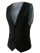 Men's Long Sleeve Vest , Spandex Work / Formal Pure