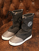 Children' Shoes Dress / Casual Fashion Boots / Comfort Polyester Boots Red / Gray