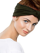 Women's Fashion Stretch Solid Turban Yoga Elastic Knot Headband Hair Accessories
